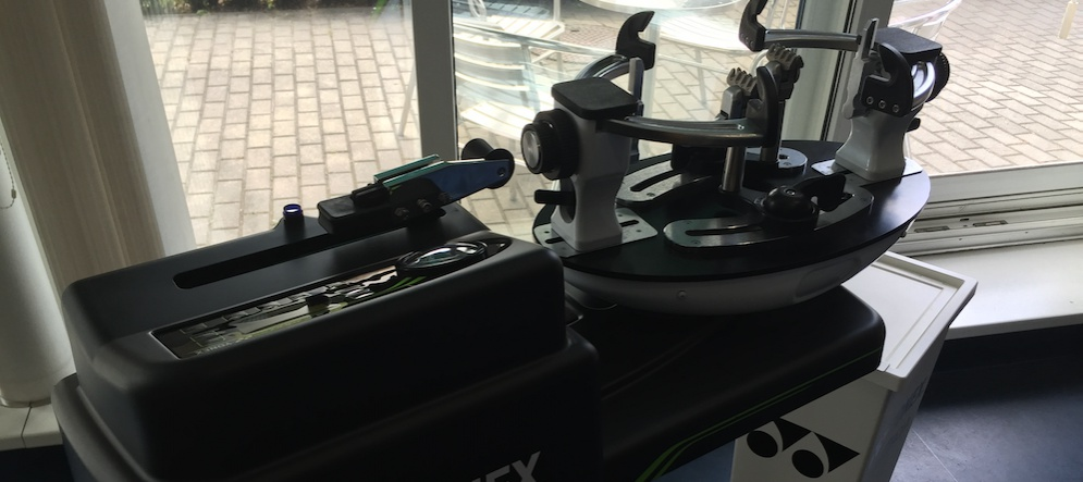 Stringing service - tennis and badminton racquets